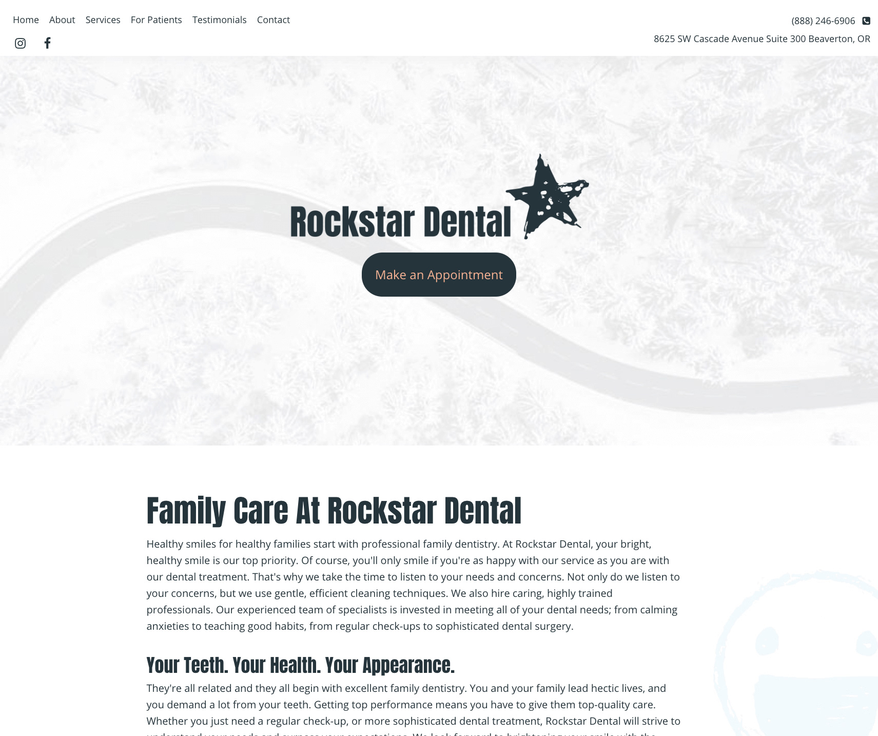 This is an example of our design called Rockstar dental
