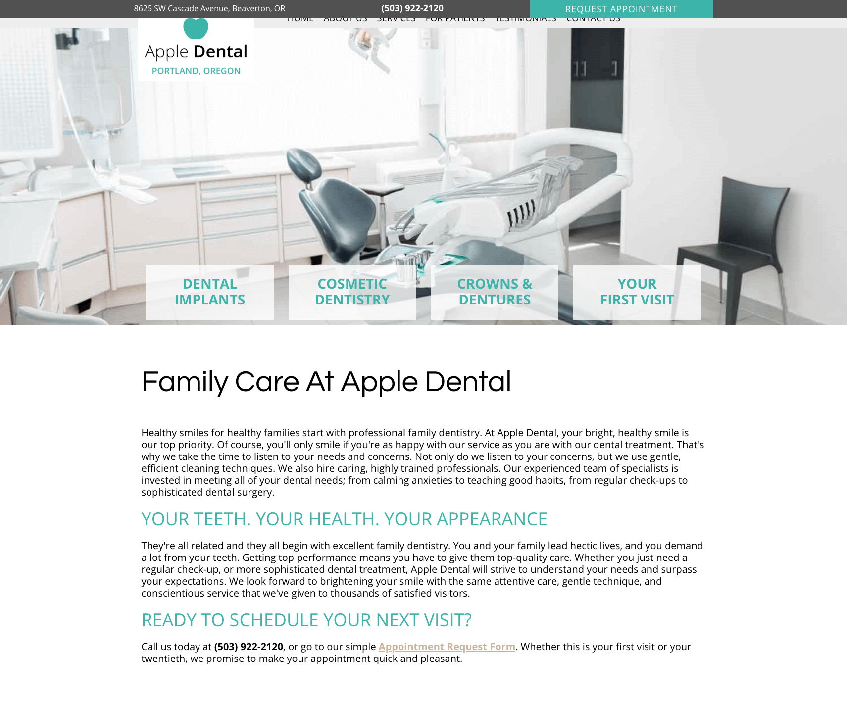 This is an example of our design called Apple Dental