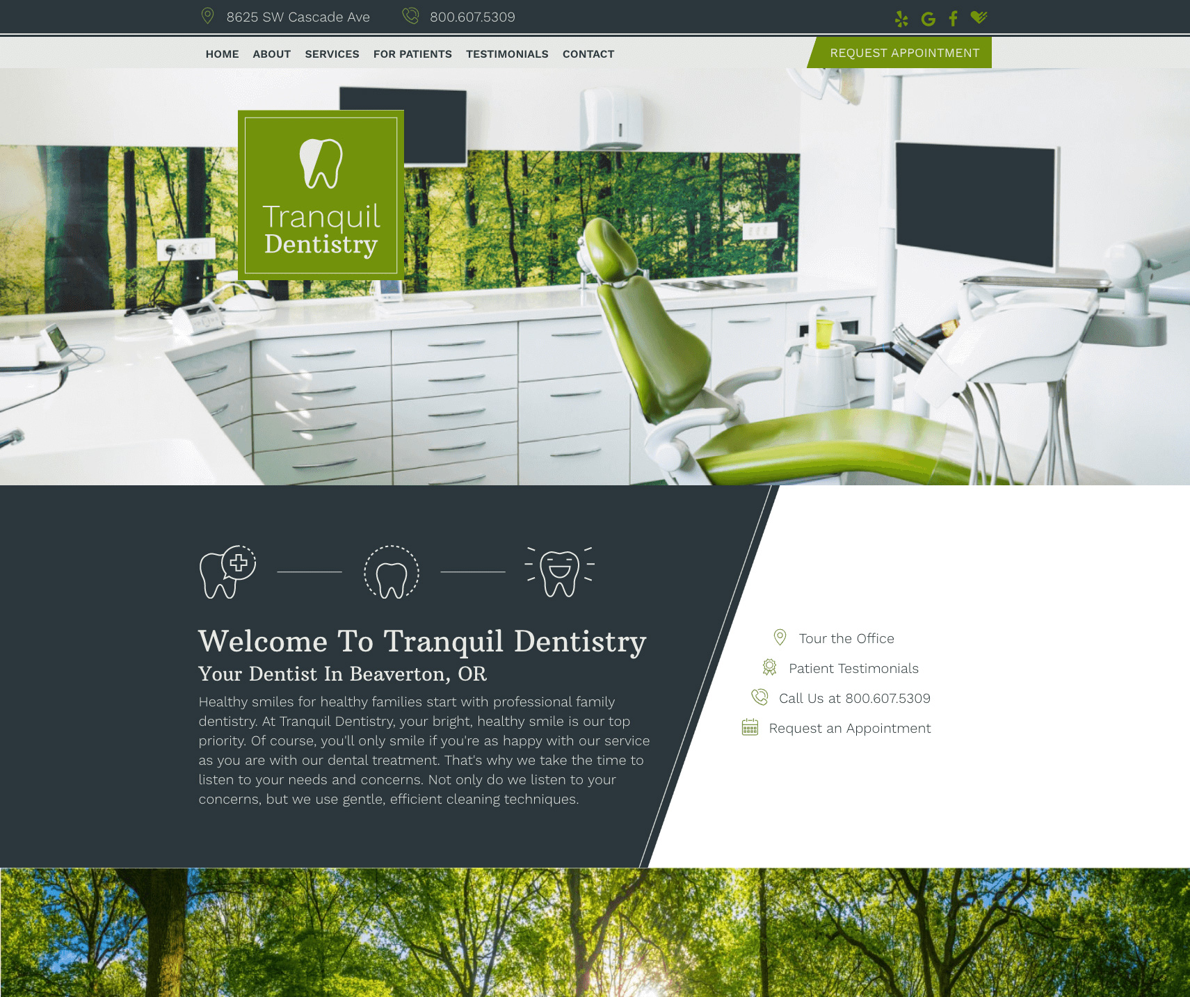 This is an example of our design called Tranquil Dentistry