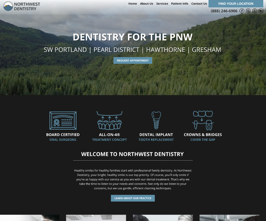 This is an example of our design called Northwest Dentistry