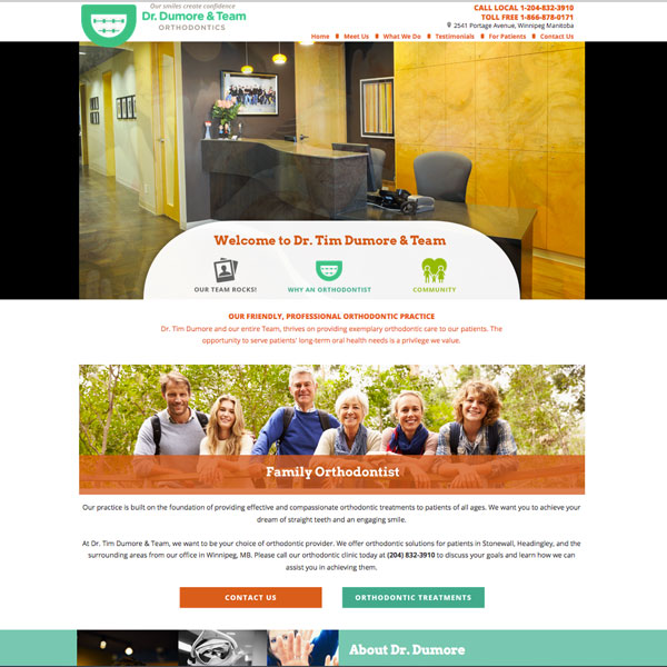 Tim Dumore - Orthodontic Website Design by WEO Media