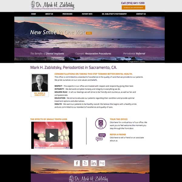 The Academy of Reconstructive Periodontics & Implants - Periodontist Website Design by WEO Media