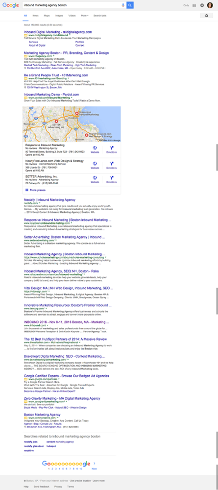WEO Blog   Google SERP Example image graphic