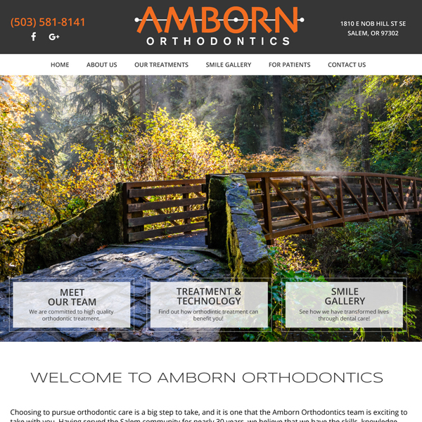 Woodburn Ortho - Orthodontic Website Design by WEO Media