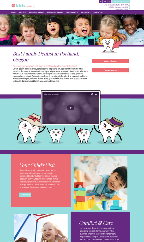This is an example of our design called Kids Dentistry Design