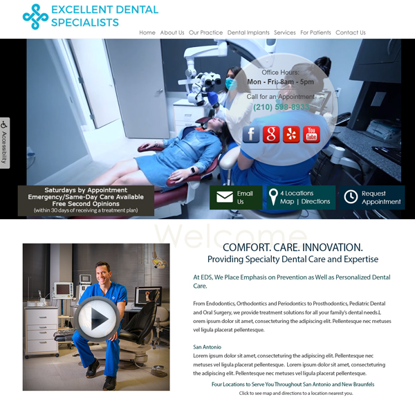 Excellent Dental Associates - Periodontist Website Design by WEO Media