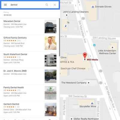 Local SEO for Dentists - Google Map & Results
