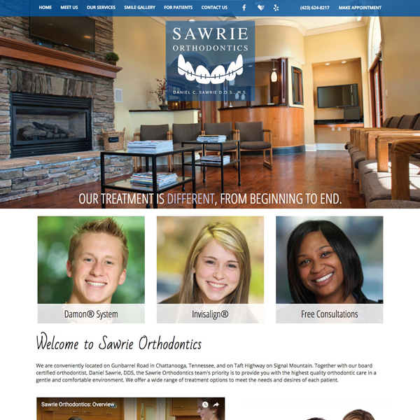 Sawrie Orthodontics - Ortho website design by WEO Media